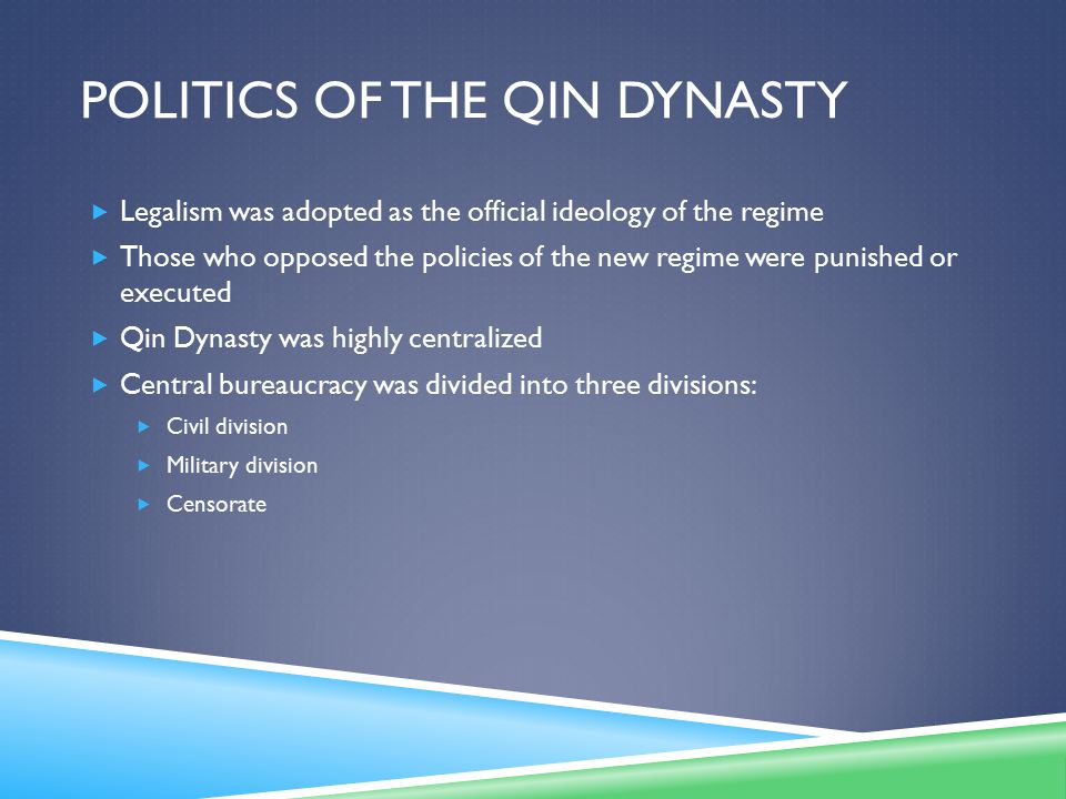 Politics of the Qin Dynasty