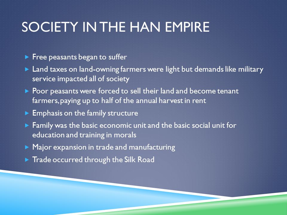 Society in the Han Empire