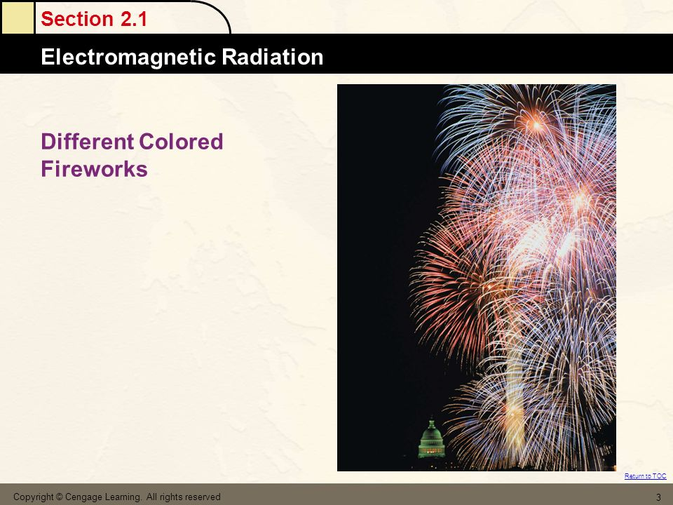 Different Colored Fireworks