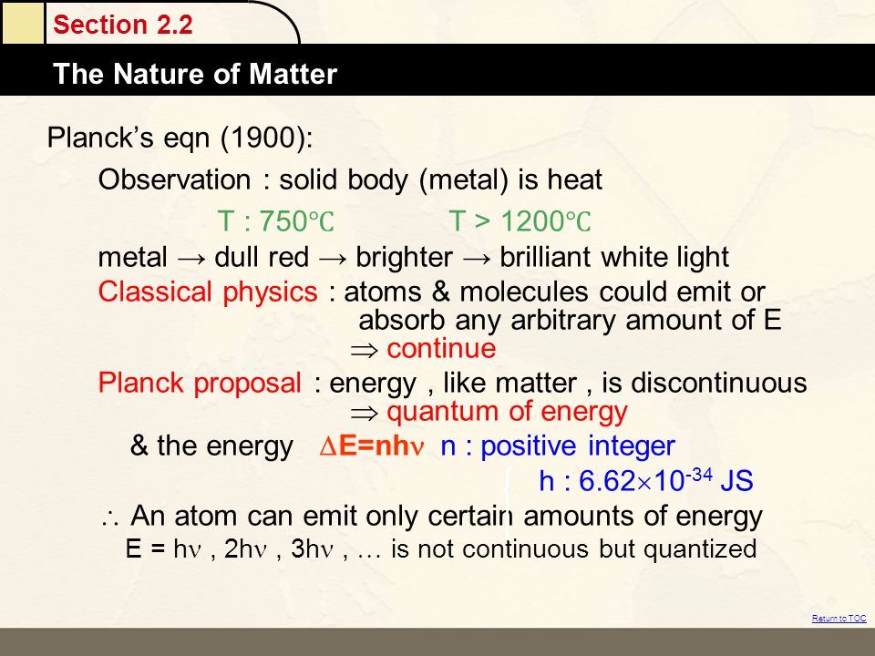 Observation : solid body (metal) is heat T : 750℃ T > 1200℃