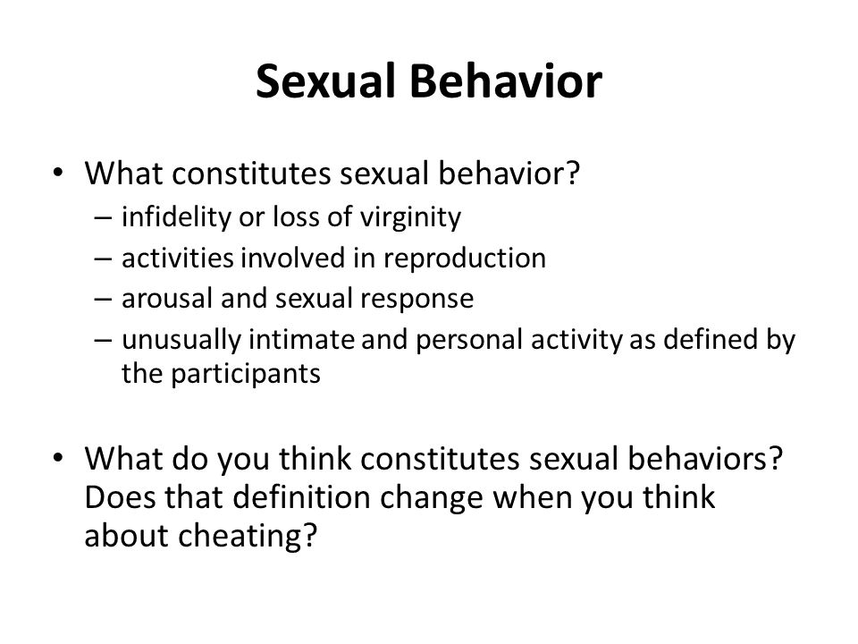 Meaning of sexual behaviour