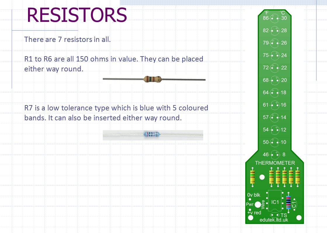 THERMOMETER PROJECT PCB ASSEMBLY INSTRUCTIONS. - ppt download