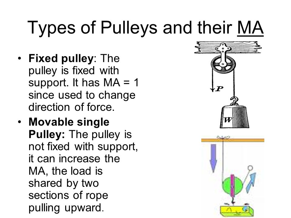 Classification of simple machines: Simple machines are
