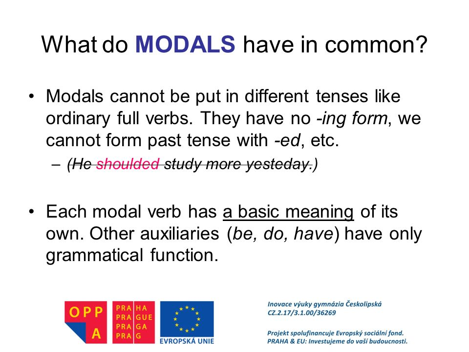 Modal Verbs A Brief Overview Ppt Video Online Download