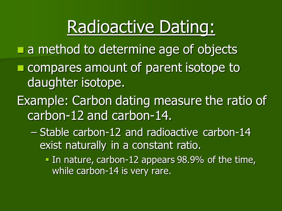 what is the relationship between radioactive isotope and radioactive dating