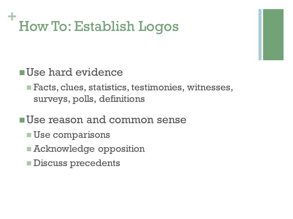 How To: Establish Logos