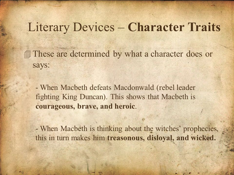 literary devices used in macbeth