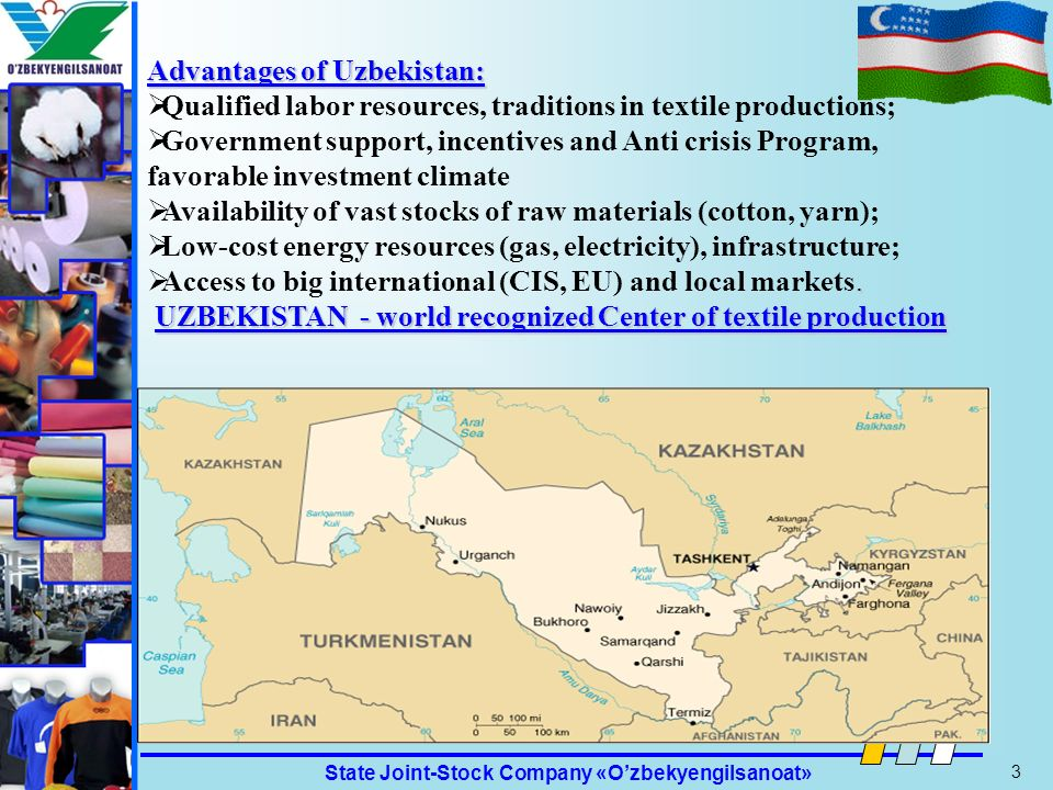 Advantages of Uzbekistan: