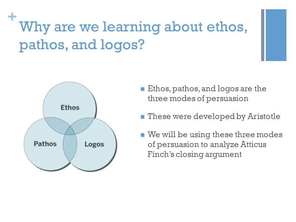 Why are we learning about ethos, pathos, and logos