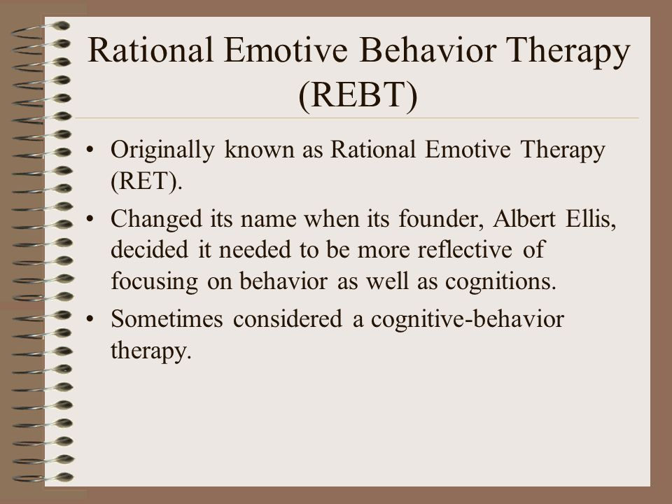 how is cognitive therapy different from rational emotive therapy