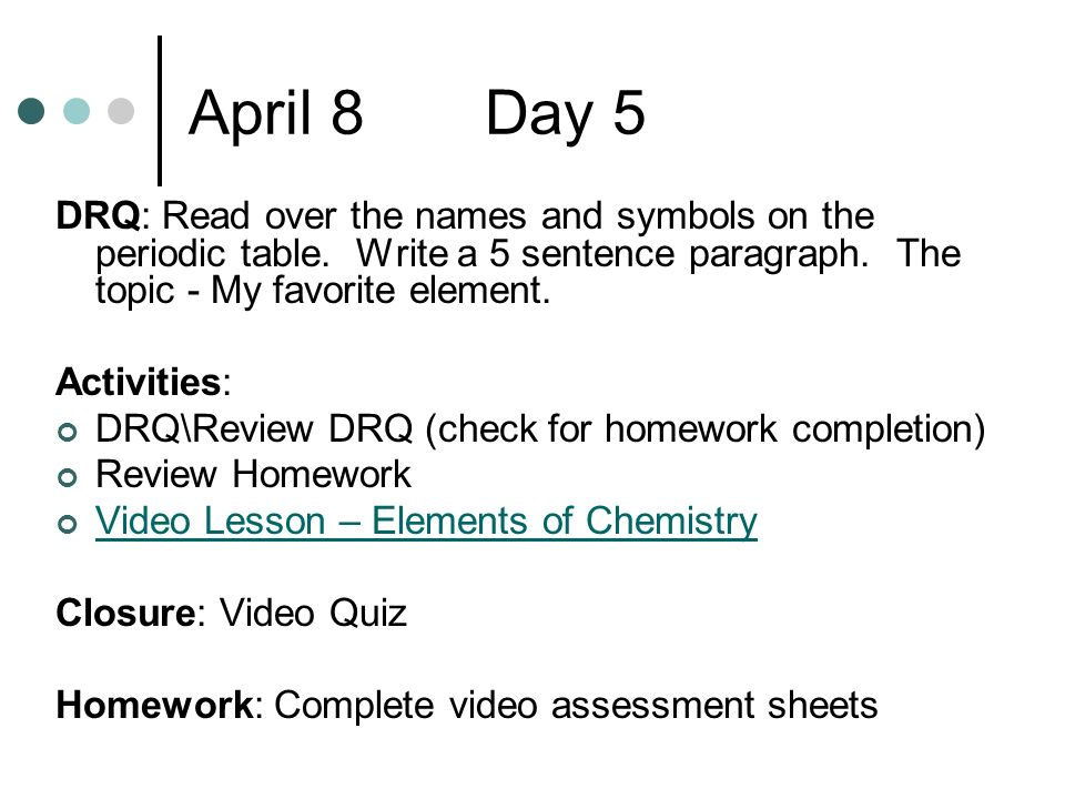 Atomic structure and the periodic table ppt download april 8 day 5 drq read over the names and symbols on the periodic table urtaz Choice Image
