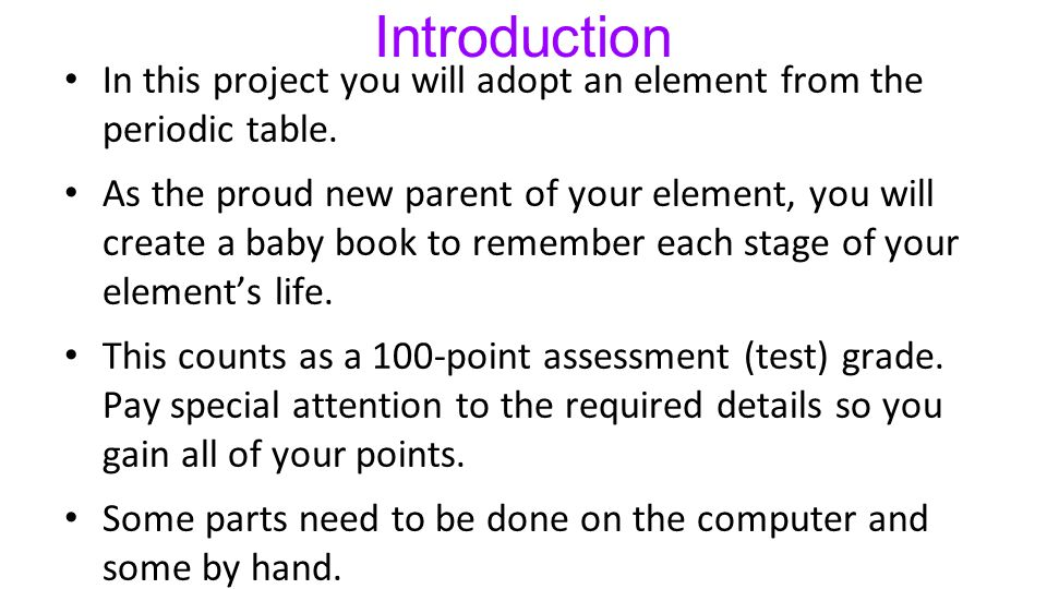 Element Project Baby Book Ppt Video Online Download