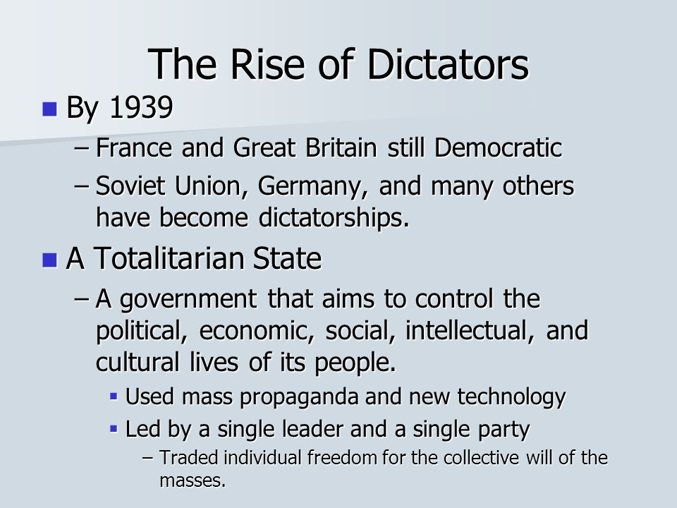 the rise of dictatorial regimes ppt video online download rh slideplayer com Rise of Dictators Title Page guided reading activity 20 1 the rise of dictators answers