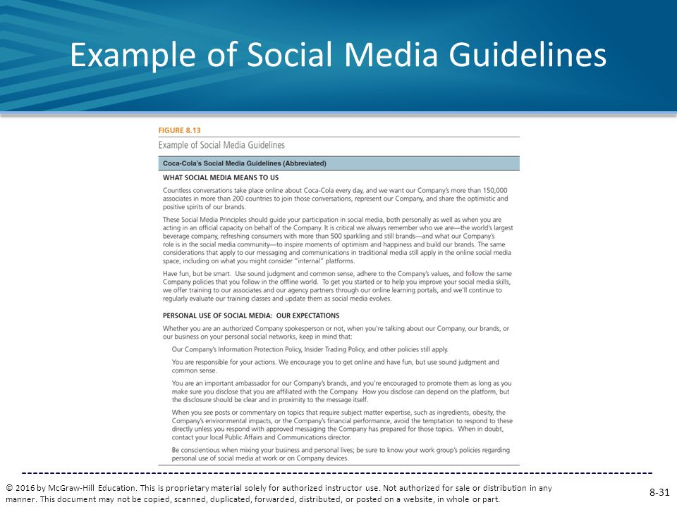 example of social media guidelines