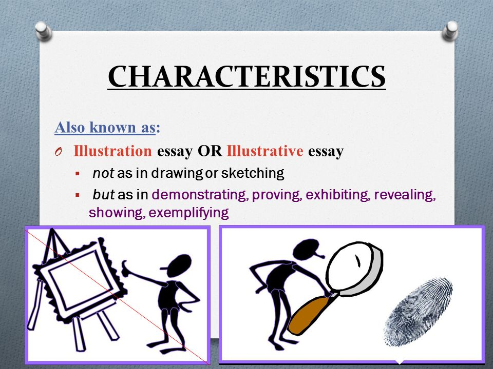 Example Essay Thesis Illustration Example Essay  Characteristics  Illustration Essay Example Papers also Proposal Essay Example Illustration Example Essay  Ppt Video Online Download Essay About Business