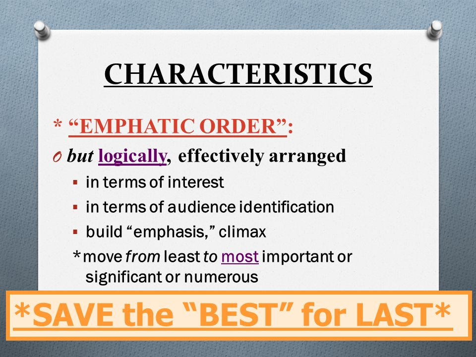empathic order in essay writing