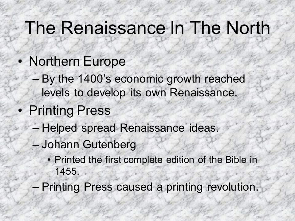 what helped spread renaissance ideas in europe