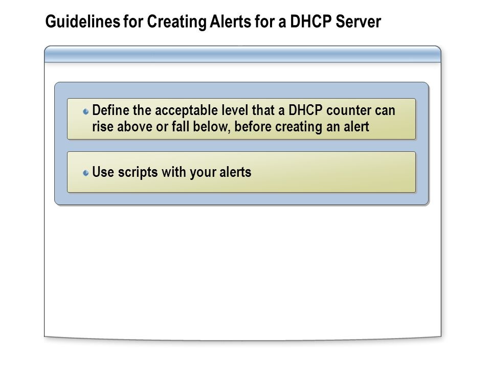 Overview Managing a DHCP Database Monitoring DHCP - ppt