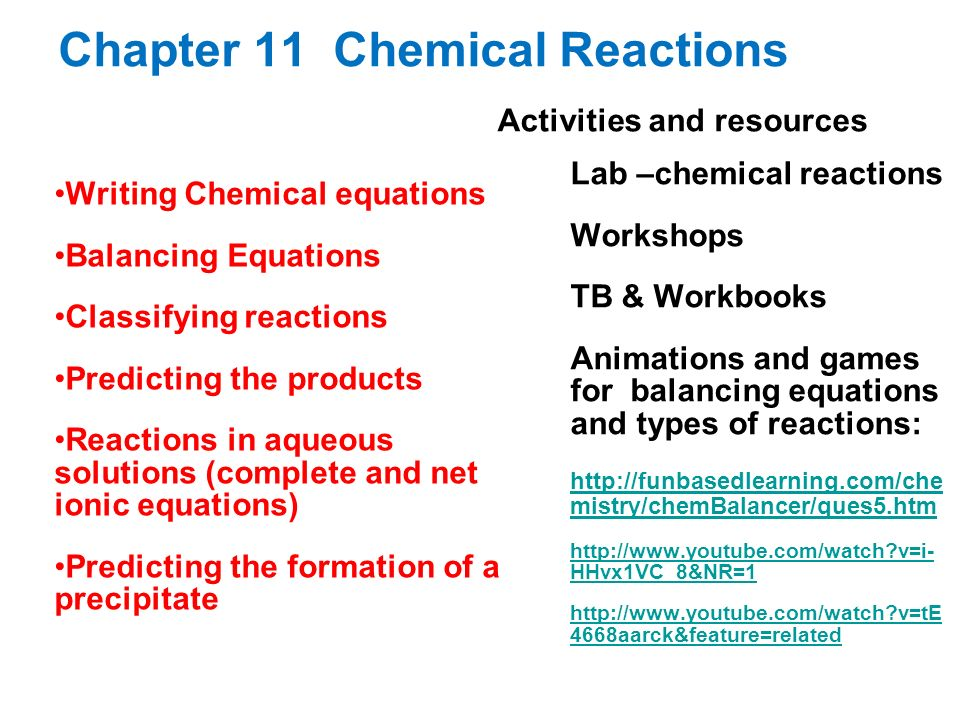 Chapter 11 Chemical Reactions Ppt Download. Chapter 11 Chemical Reactions. Worksheet. Types Of Reactions Worksheet Prentice Hall At Mspartners.co