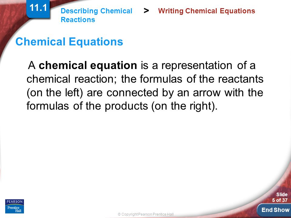 Chapter 11 Chemical Reactions - ppt download