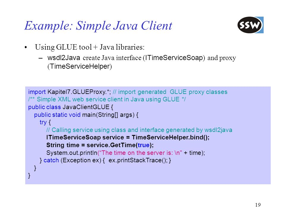 Example: Simple Java Client