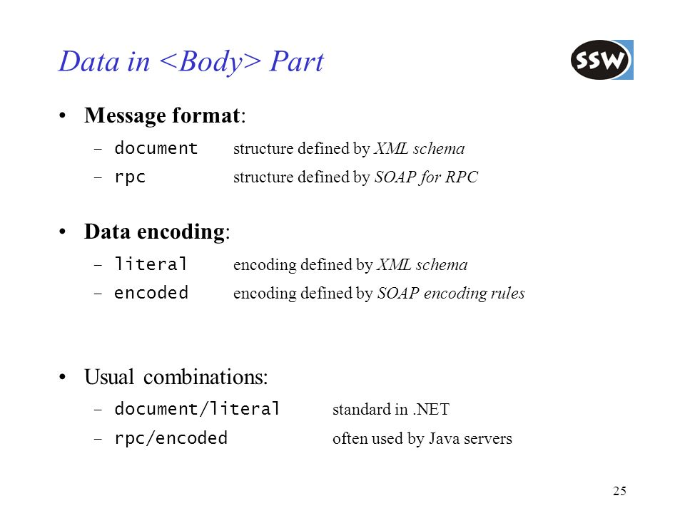 Data in <Body> Part