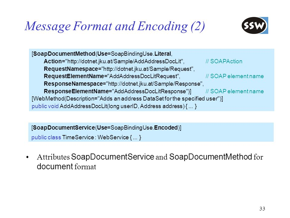 Message Format and Encoding (2)
