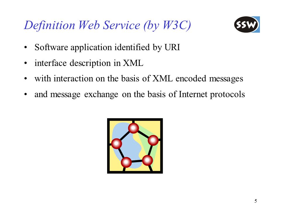 Definition Web Service (by W3C)
