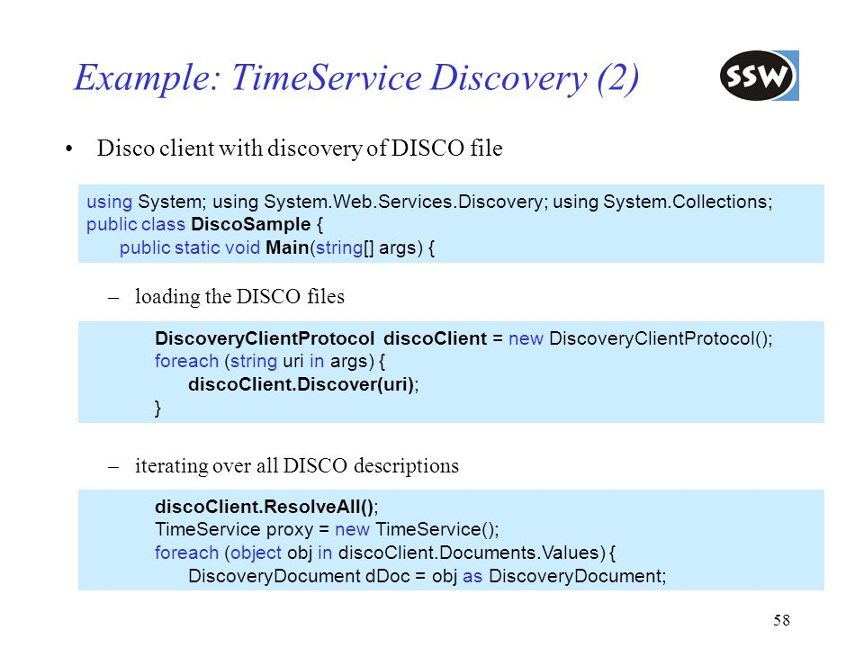 Example: TimeService Discovery (2)