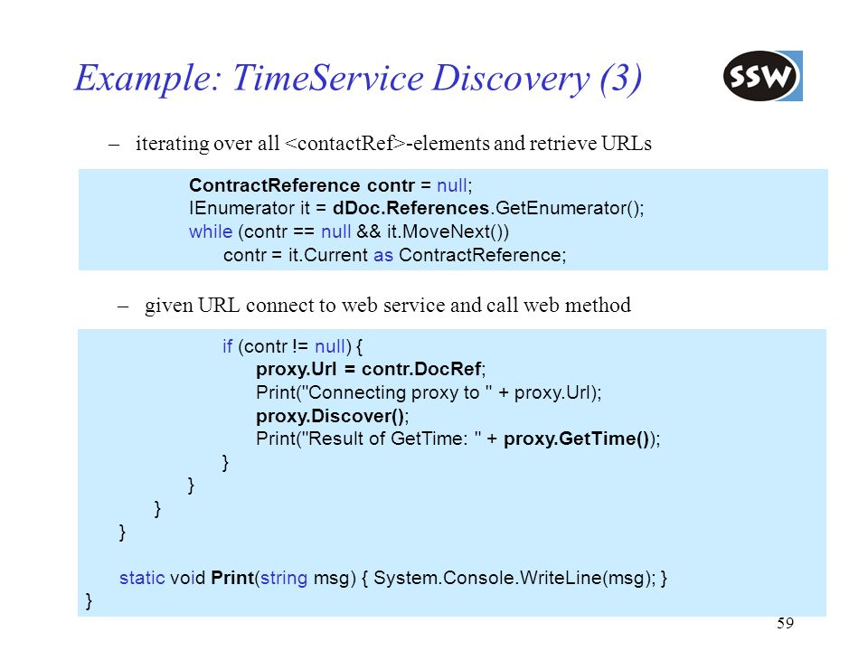Example: TimeService Discovery (3)