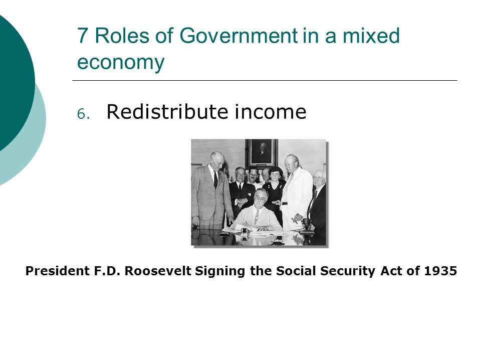 what is the role of government in a mixed economy