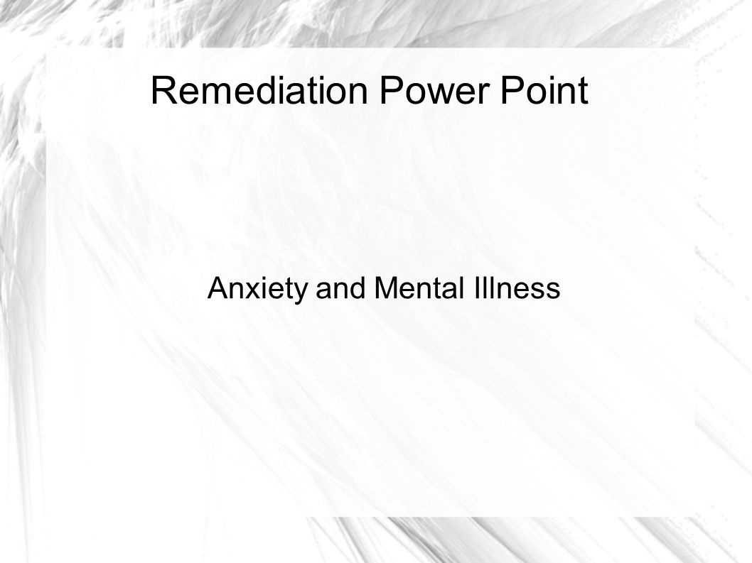 Remediation Power Point