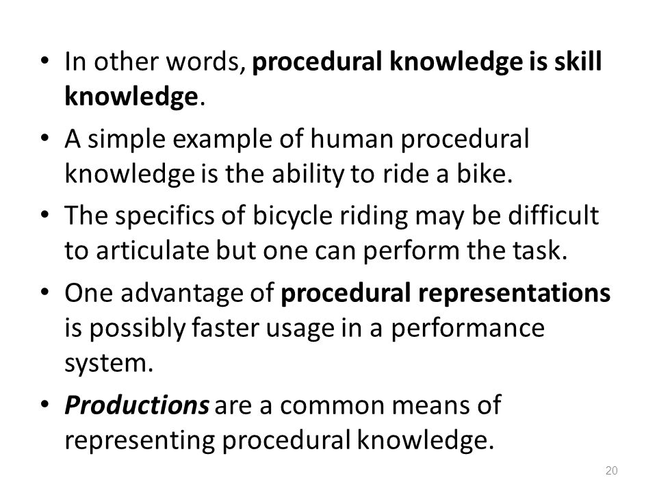 Procedural Knowledge Ppt Video Online Download