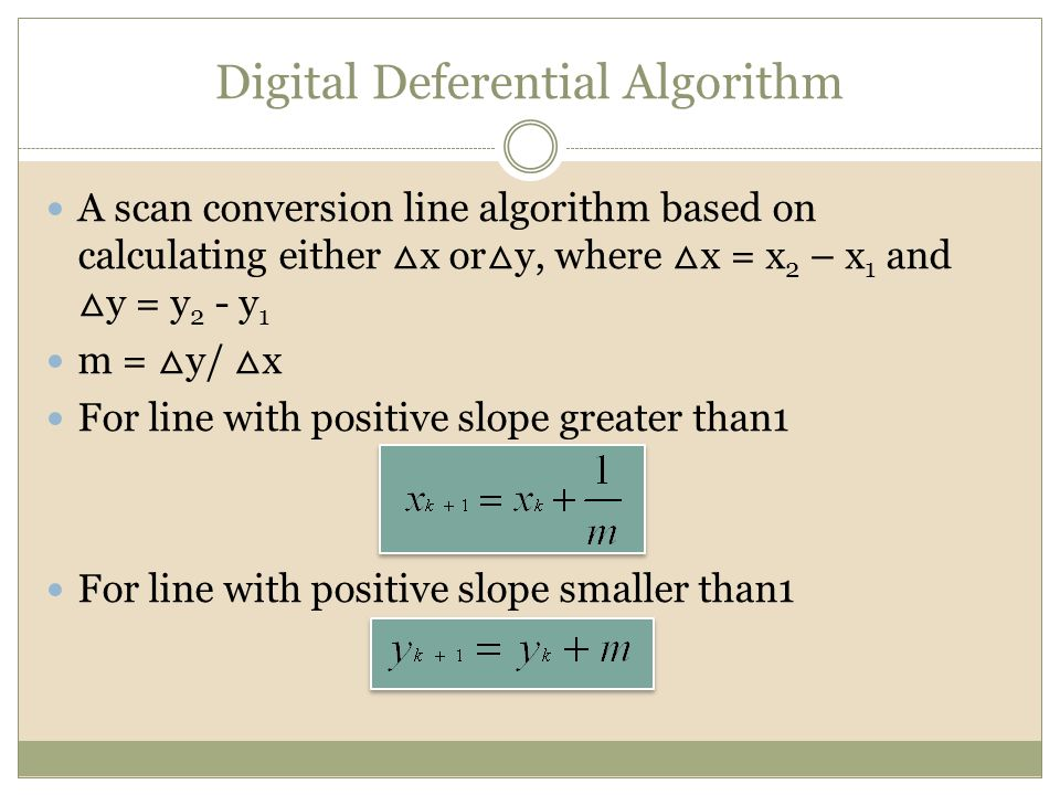 Dda Line Drawing Algorithm For Negative Slope In C : Cgmb introduction to computer graphics ppt video