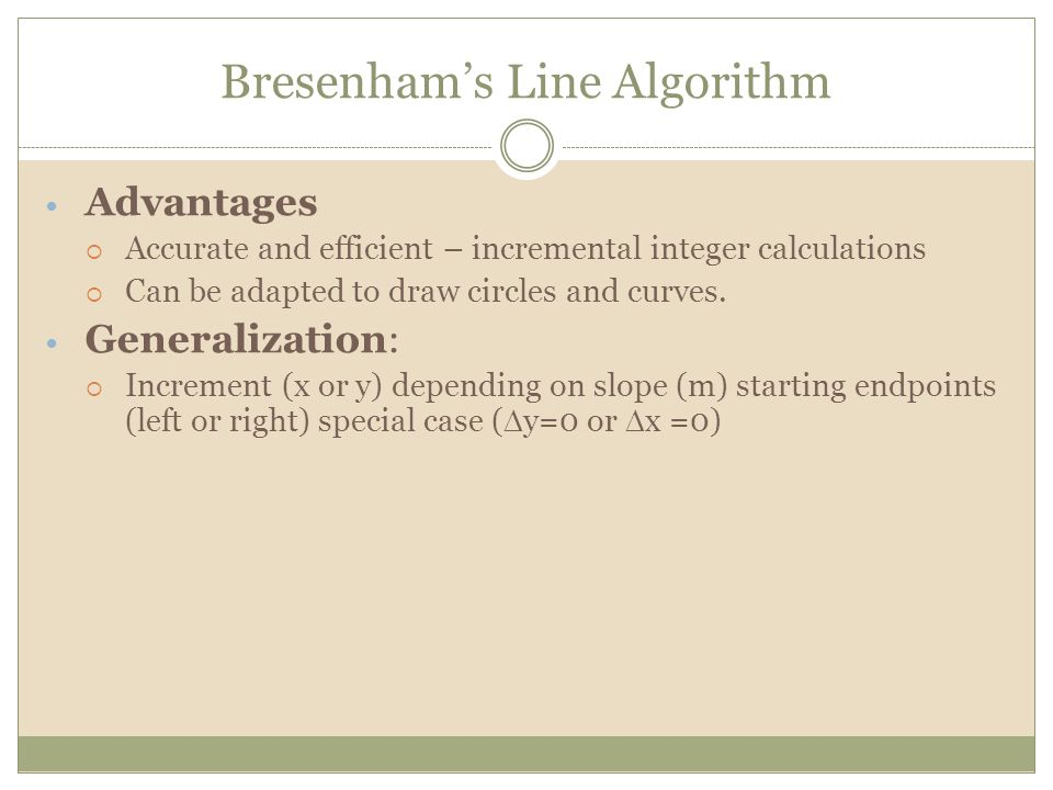 Bresenham Line Drawing Algorithm For M Greater Than 1 : Cgmb introduction to computer graphics ppt video