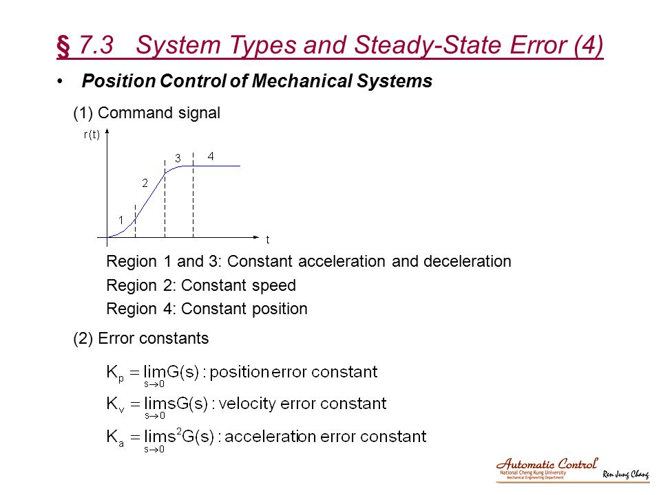 § 7.3 System Types and Steady-State Error (4)