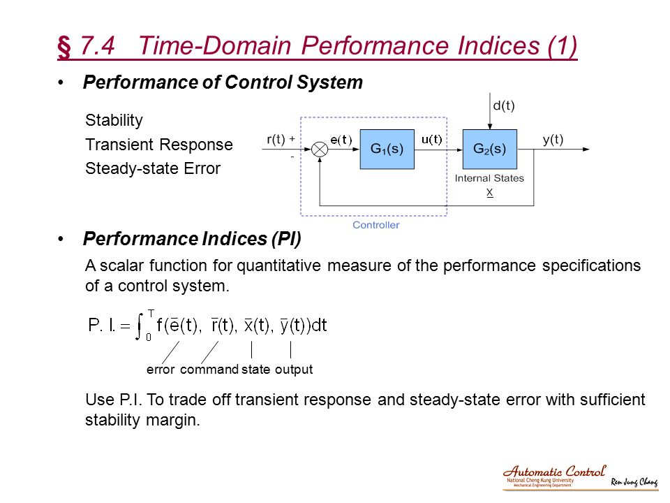 § 7.4 Time-Domain Performance Indices (1)