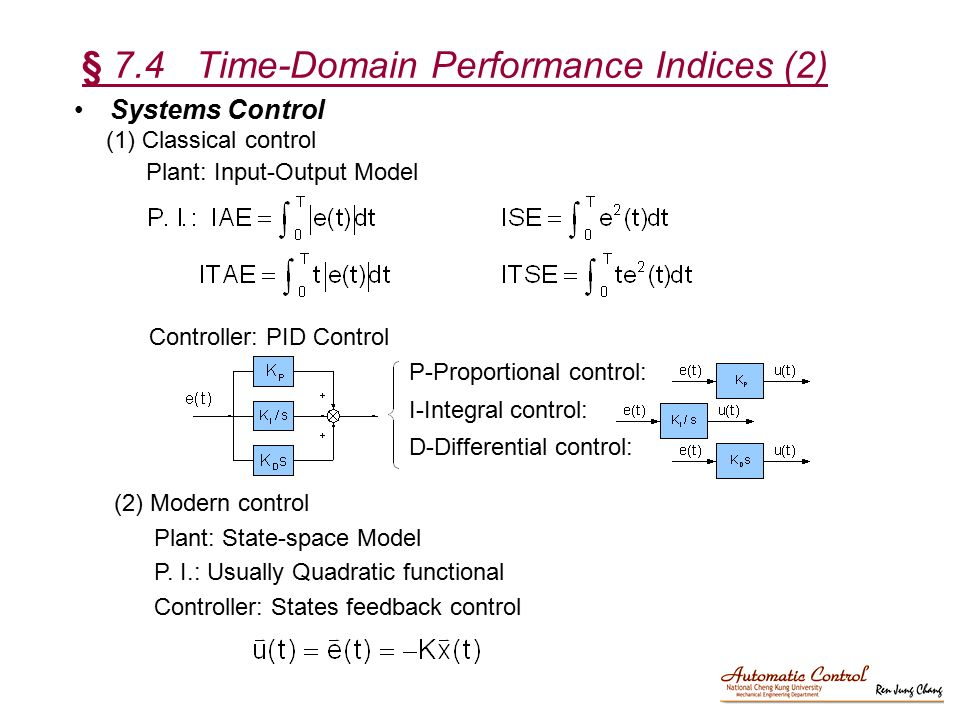 § 7.4 Time-Domain Performance Indices (2)