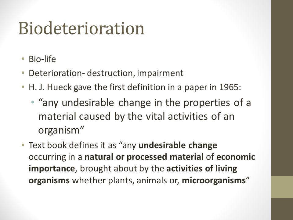 Deterioration Definition