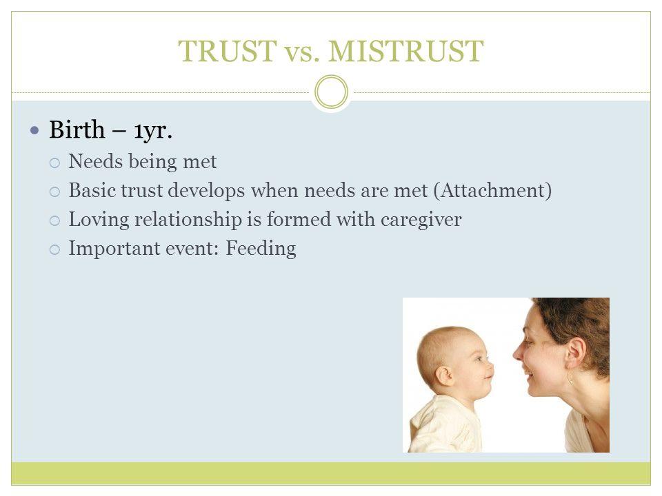 erikson trust vs mistrust