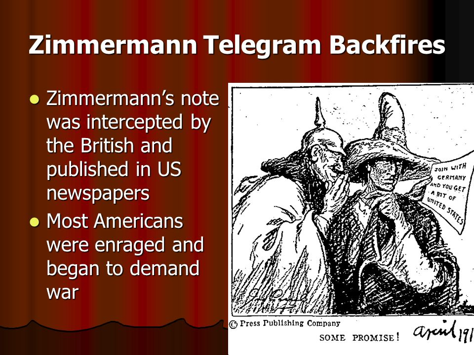 Zimmermann Telegram Backfires