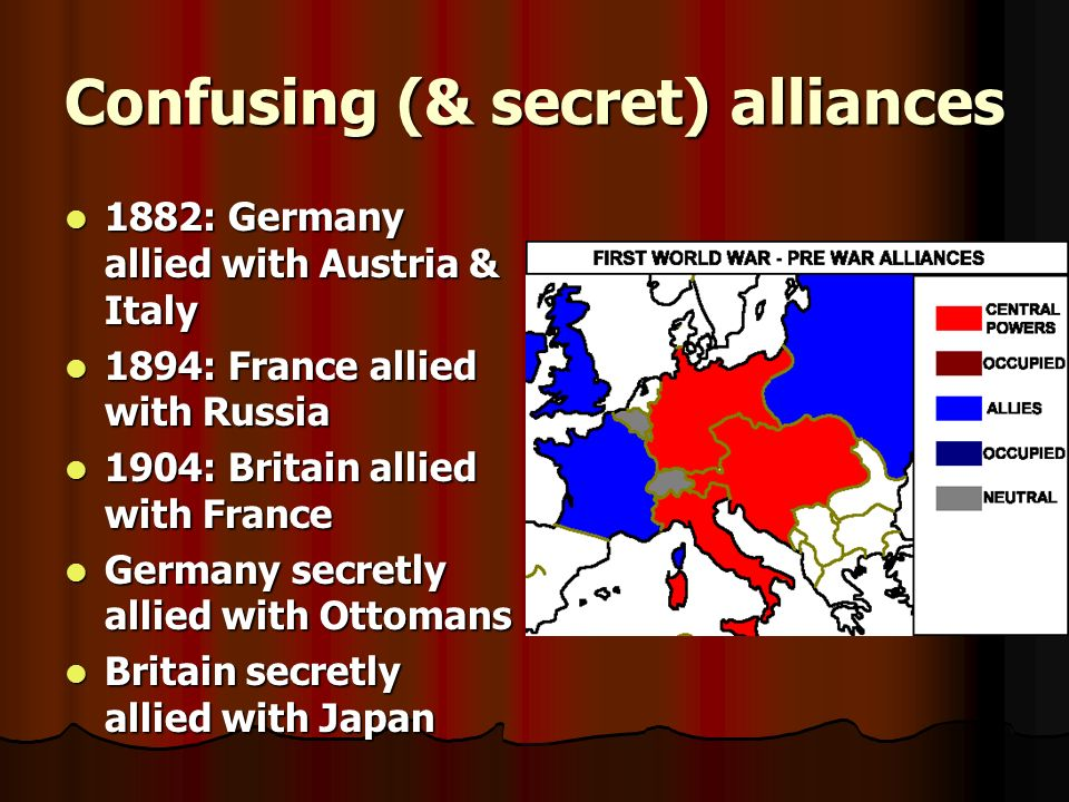Confusing (& secret) alliances
