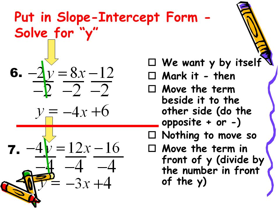 Practice Converting Linear Equations Into Slope Intercept Form Ppt