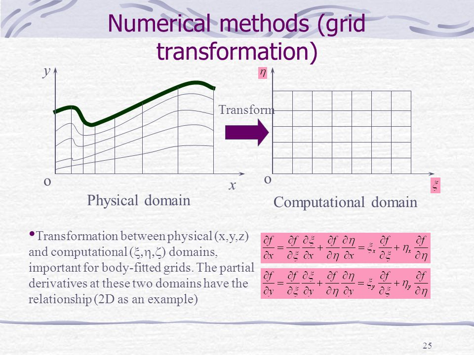 Numerical methods (grid transformation)
