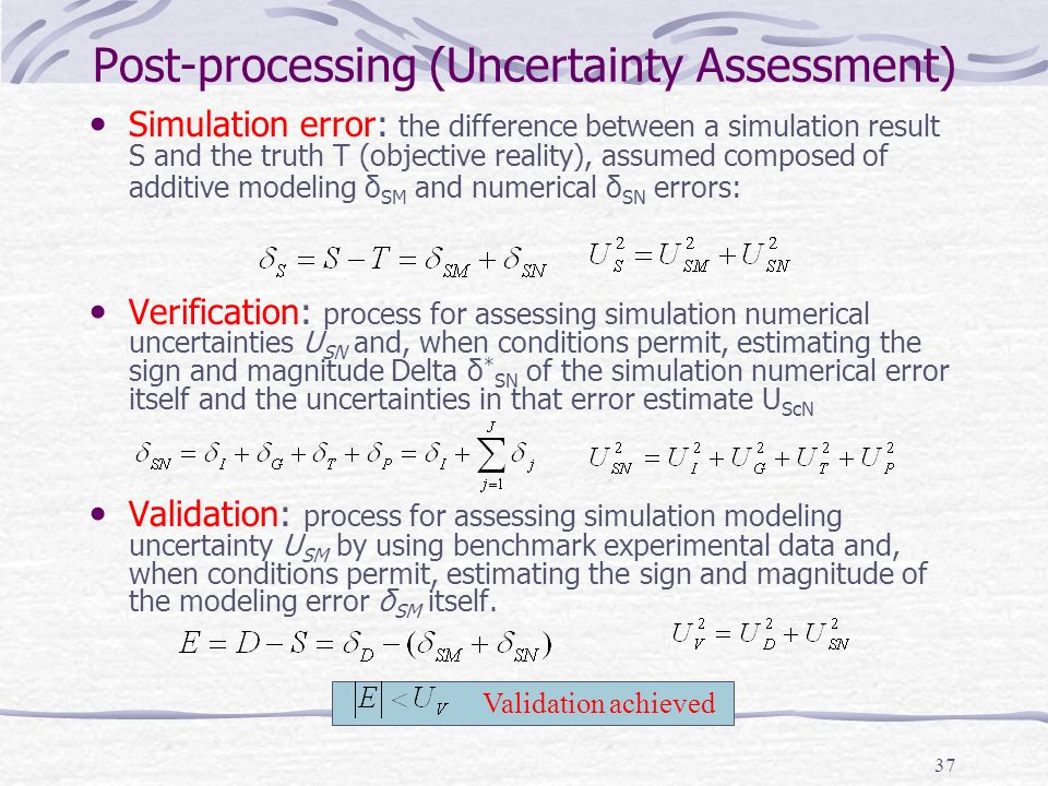 Post-processing (Uncertainty Assessment)