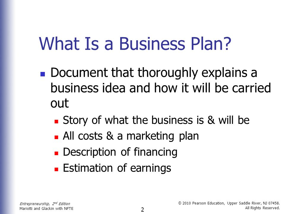 chapter 2 the business plan road map to success ppt download