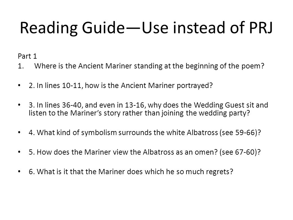 Rime Of The Ancient Mariner Ppt Download