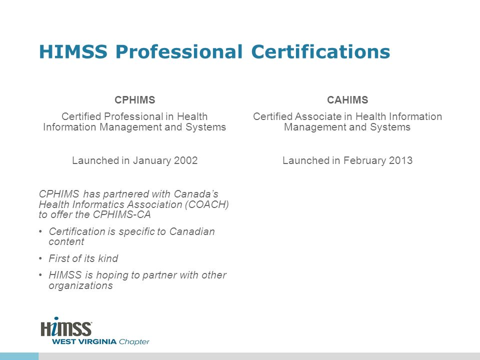Himss Professional Certifications Ppt Video Online Download