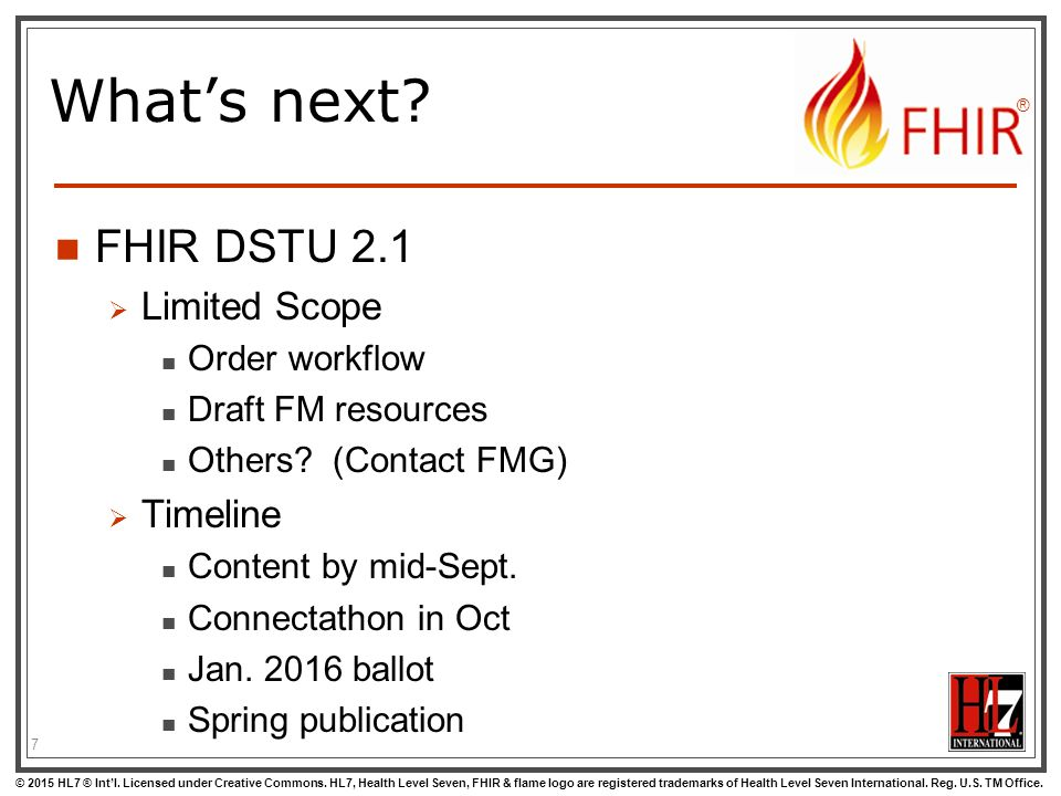 FHIR TSC update May 12, ppt download
