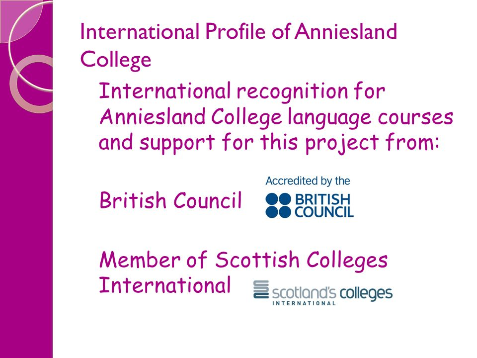 International Profile of Anniesland College